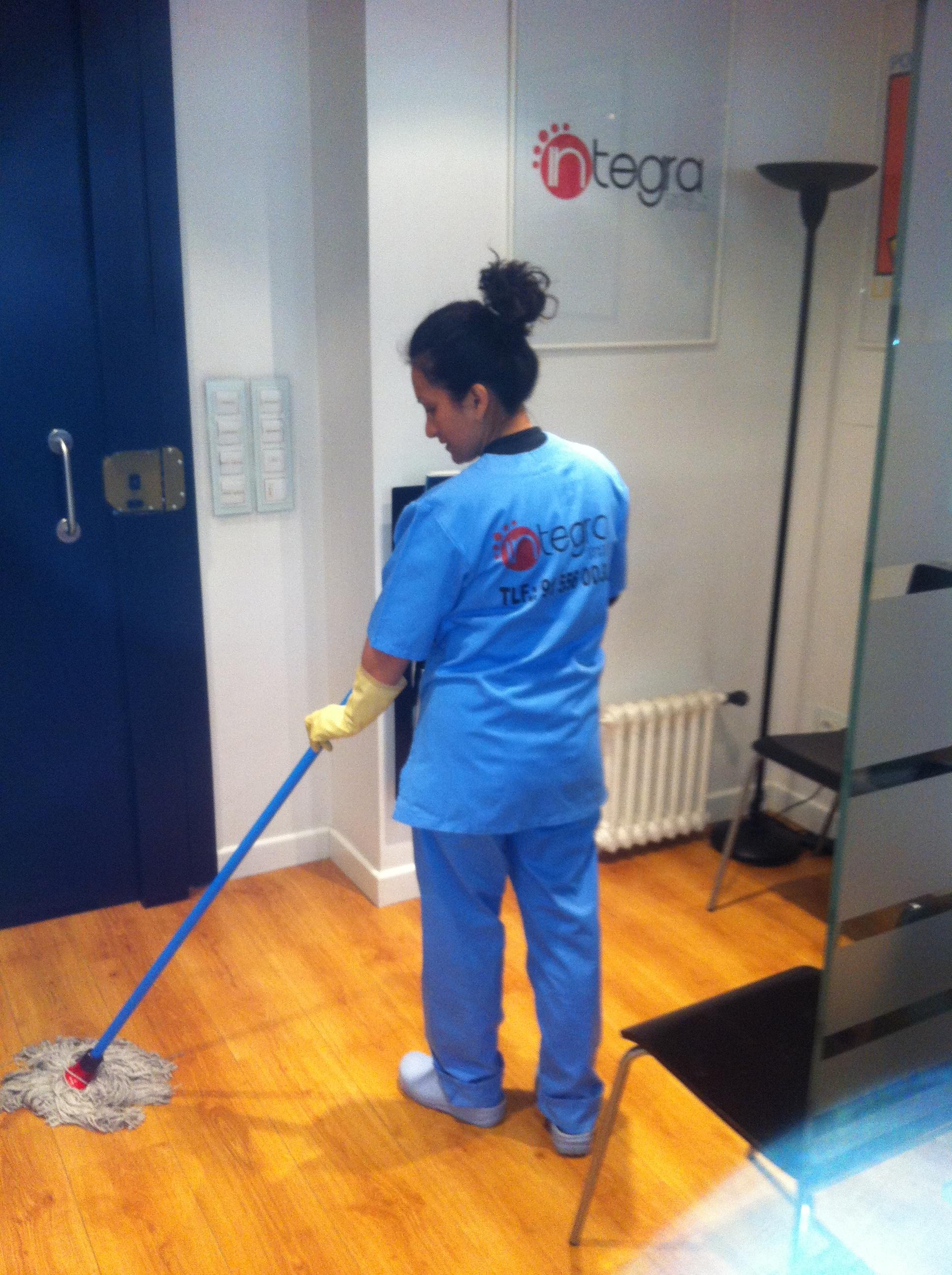 Empleados del Servicio de Limpieza